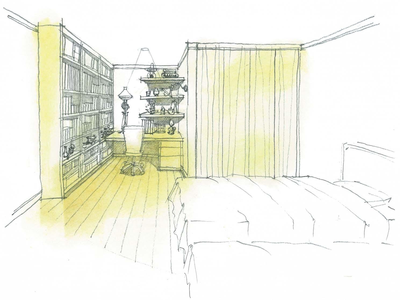 書斎インテリア 寝室