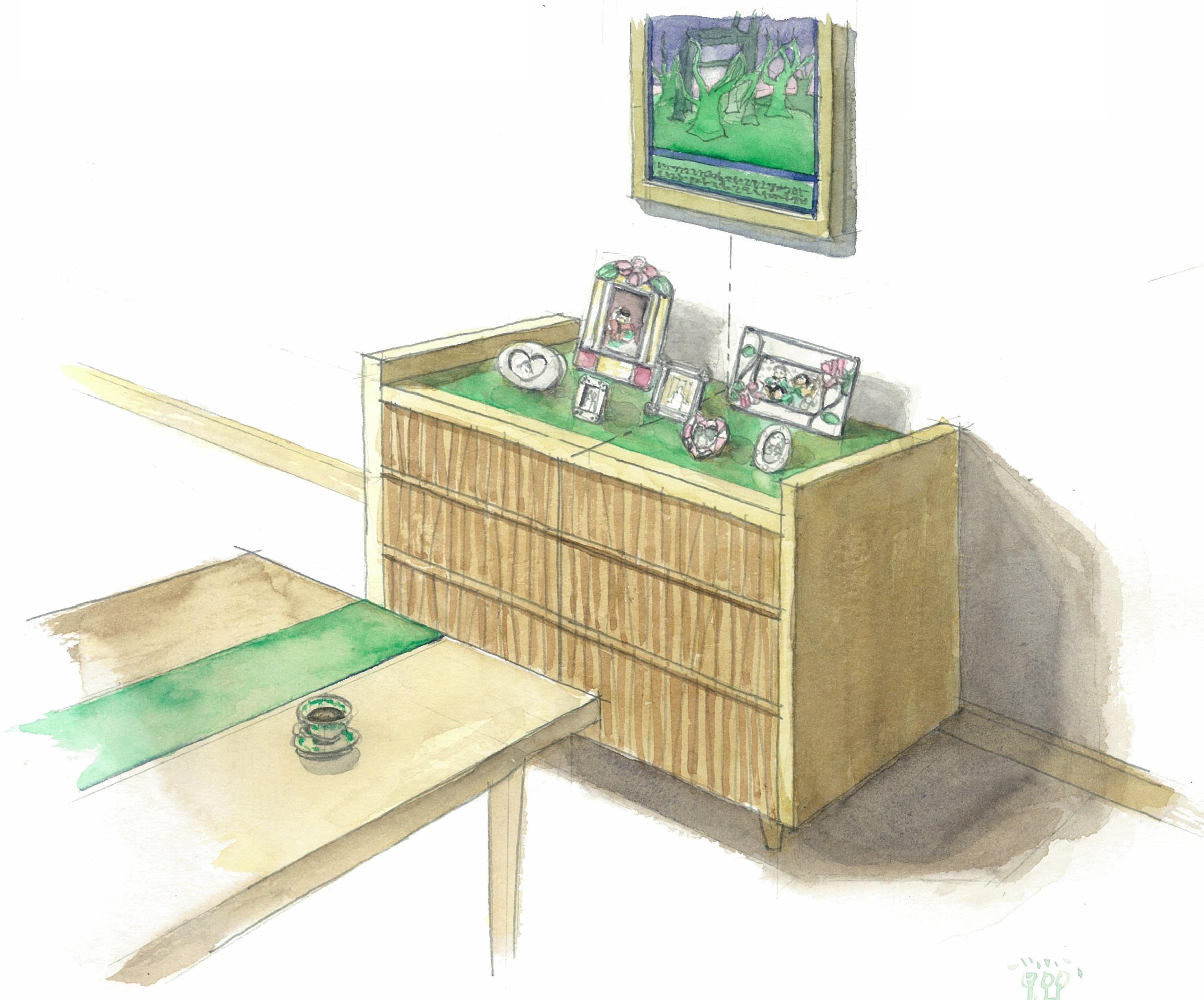 家具を飾る